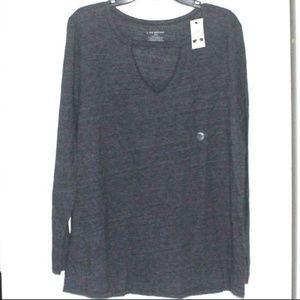 Lane Bryant Long Sleeve Dark Gray Shirt size 18/20